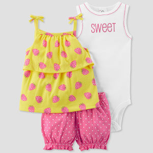 Baby Girl Summer Top Bodysuit Shorts Clothes
